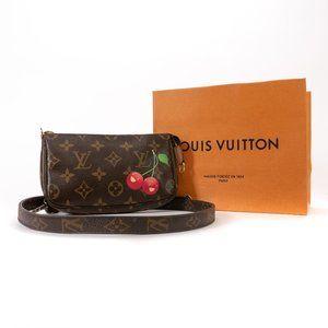 LOUIS VUITTON Monogram Cherries Pochette Clutch